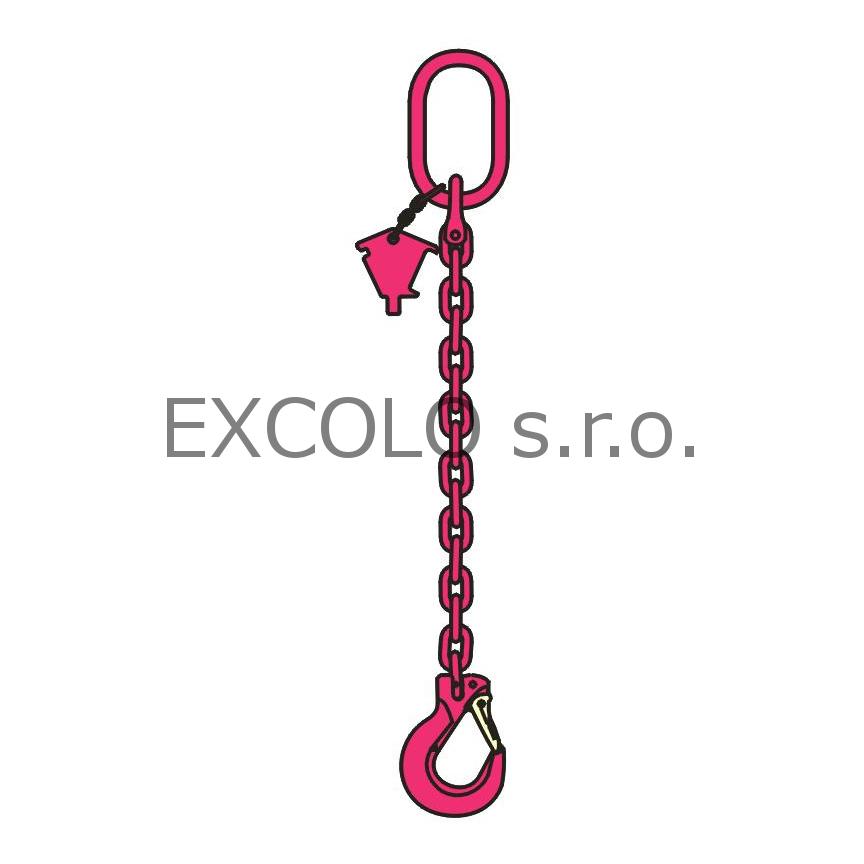 23100010 Řetěz jednopramenný 700-5200kg
