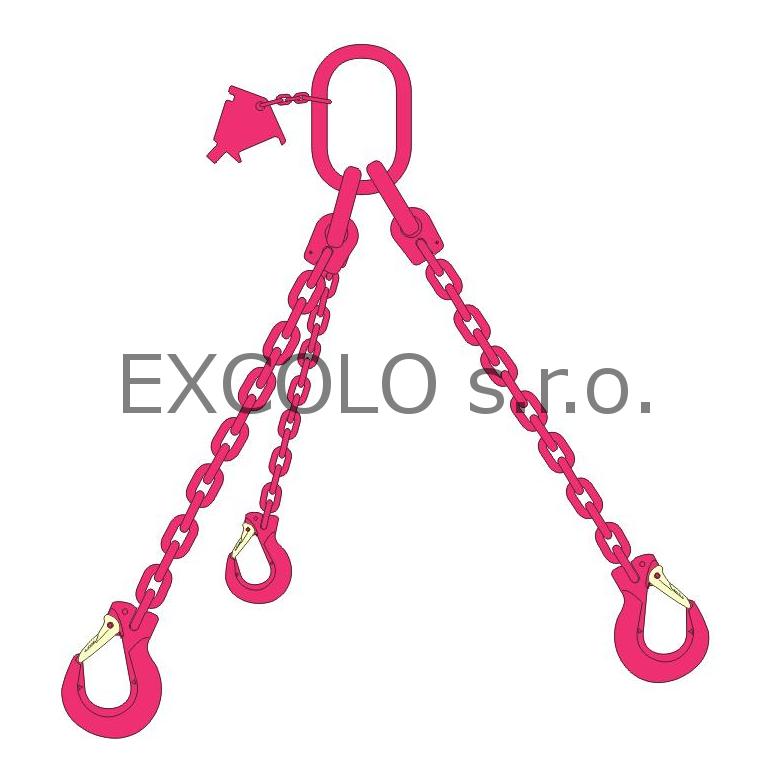23100030 Řetěz třípramenný 700-5200kg
