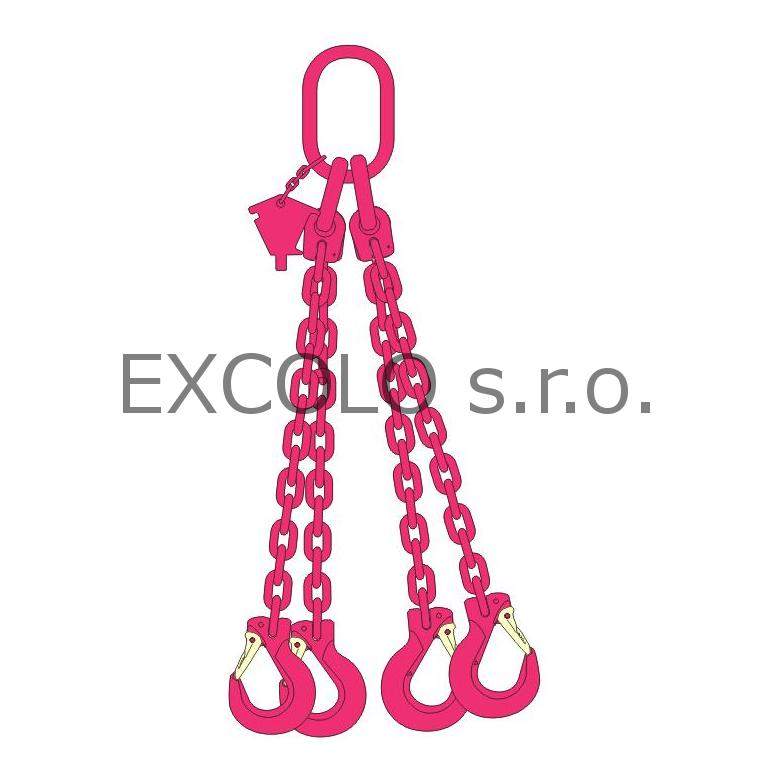 23100040 Řetěz čtyřpramenný 700-5200kg
