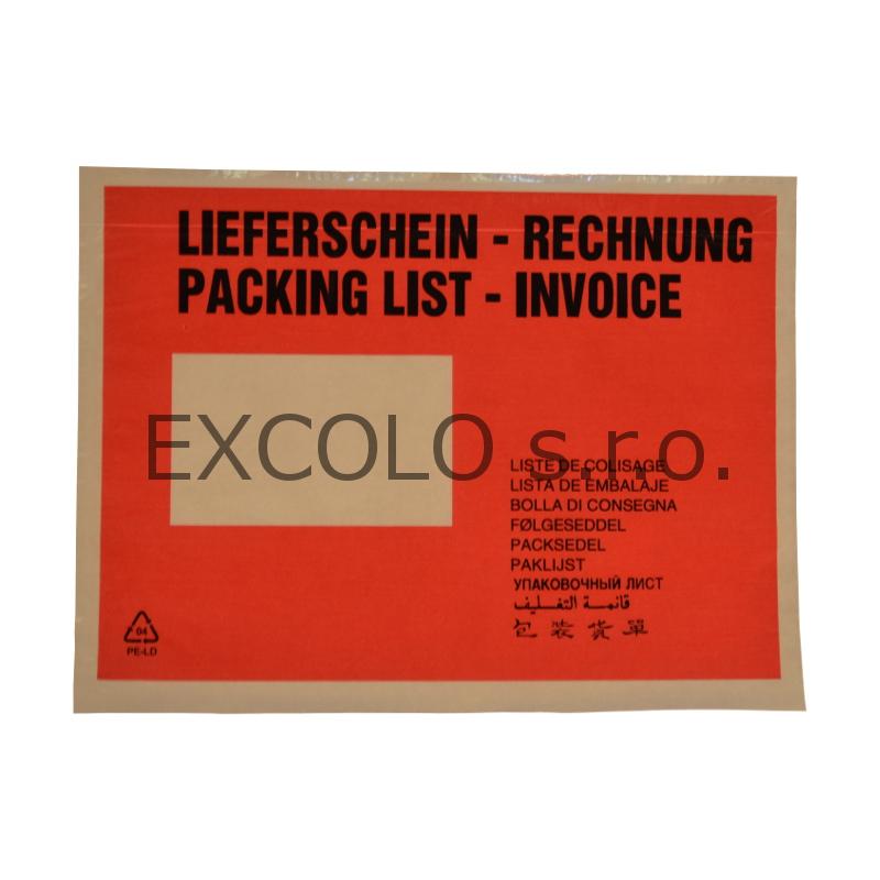 35014020 Nalepovací obálka DL  s klopou- faktura- dodací list