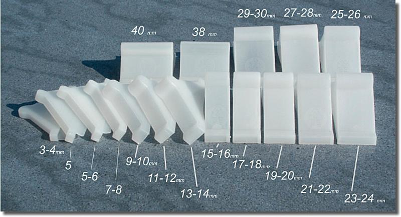 41525260 Čtyřstranný plastový roh 4R 25-26mm 1700ks